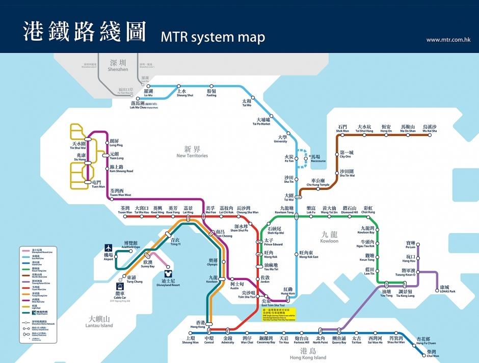 香港轻轨线路图图片大全 香港地铁线路图图片